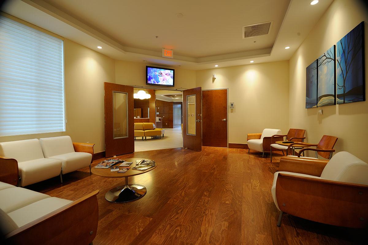 waiting room of hernia surgeon in Jupiter Florida